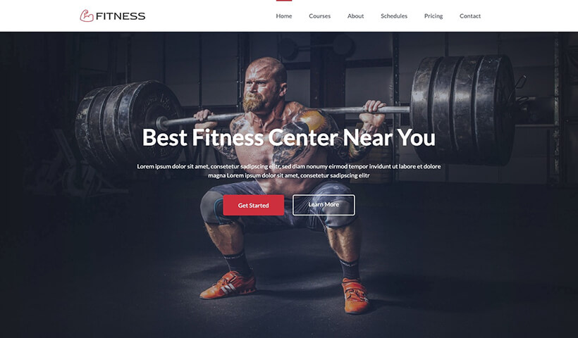 Fitness – HTML Free Gym Website Template