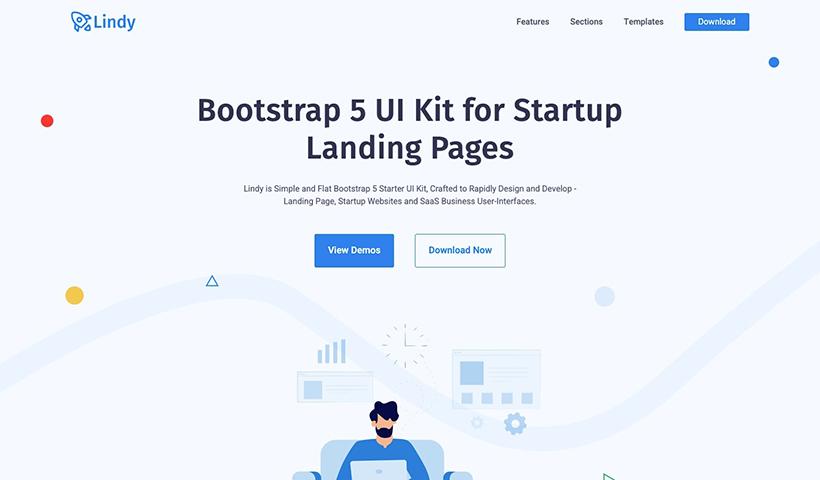 Lindy UI Kit – Free Bootstrap 5 Startup UI Kit