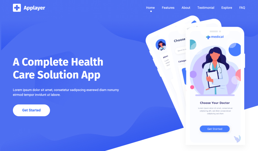 AppLayer – Free HTML App Landing Page Template