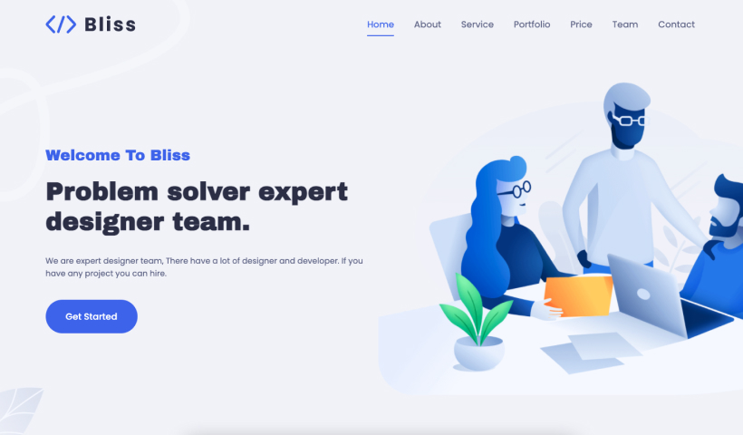 Bliss – Free Bootstrap 5 Business Template