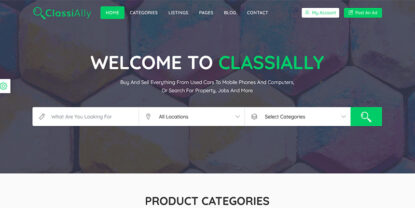 ClassiAlly – Classified Ads, Listing & Directory Template