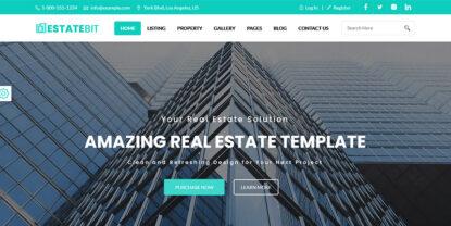 EstateBit – Free Real Estate Website Template