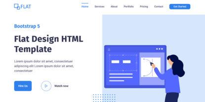 Flat – Flat Design HTML Website Template