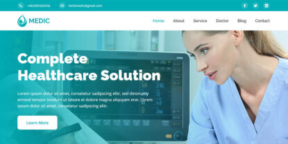 Medic – Health, Medical, & Hospital Website Template