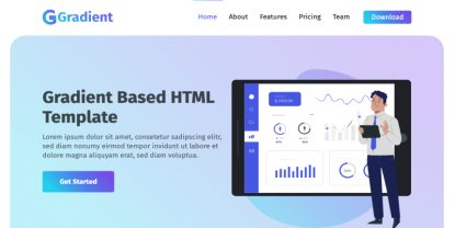 Gradient – Free HTML Landing Page Template