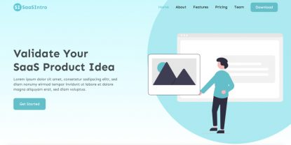 SaaSintro – Free Software Landing Page HTML Template